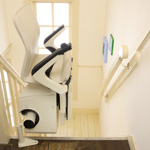 Folding up your stairlift